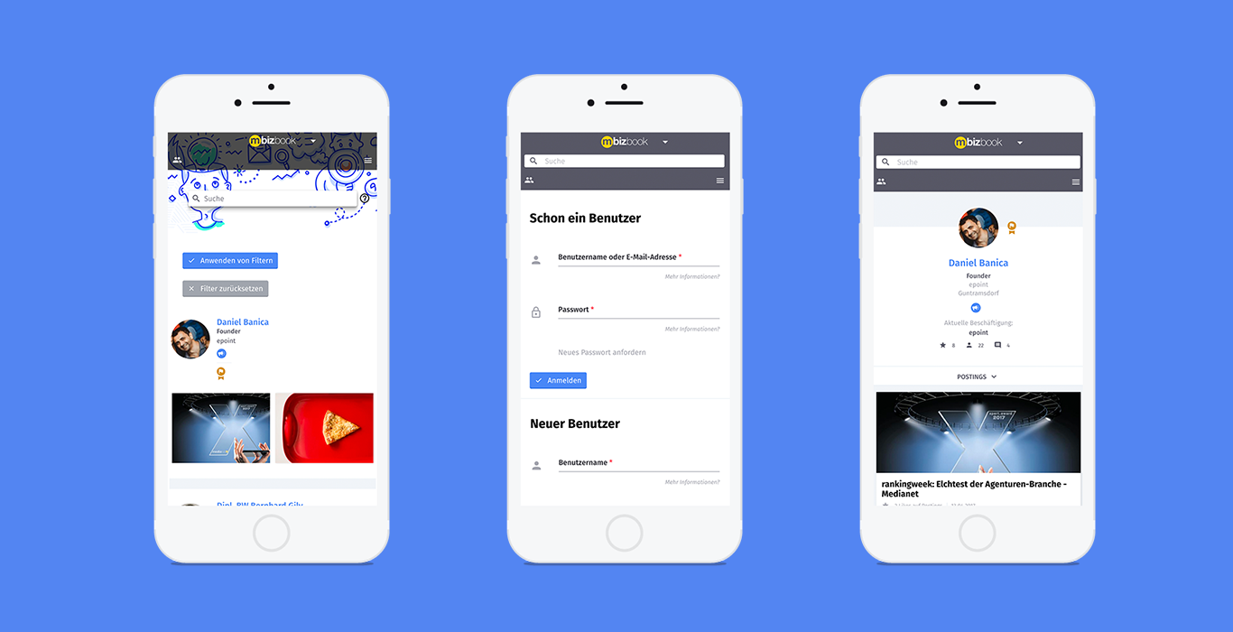 Bizbook responsive design