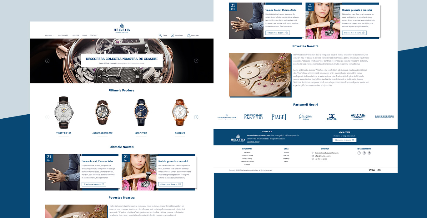 Helvetia Homepage redesign